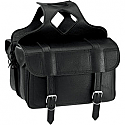 ALL AMERICAN RIDER SADDLEBAG FLAP OVER EXTRA LARGE PLAIN BLACK