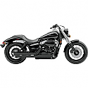 HONDA VT750C SHADOW, VT750C SHADOW AERO, VT750C2 SHADOW SPIRIT, VT750C2B SHADOW PHANTOM 2007-2016 COBRA SPEEDSTER STREET ROD SLASH DOWN EXHAUST BLACK HONDA