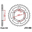 498-40 REAR SPROCKET CARBON STEEL