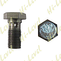 BANJO BOLT 10MM x 1.00MM SINGLE STAINLESS WITH 14MM HEX BOLT