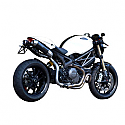 DUCATI MONSTER 1100 EVO, MONSTER 1100 EVO ABS, MONSTER 1100 EVO ABS 20TH ANNIVERSARY, MONSTER 1100 EVO ABS DIESEL 2011-2013 ROUND MUFFLERS CARBON HIGH-UP