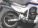 XL600V TRANS ALP HONDA (PD06) FULL EXHAUST SYSTEM ROAD LEGAL