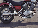 YAMAHA XV535, VIRAGO 2-1 SYSTEM ROAD IN BRUSHED STAINLESS R/BAFFLE