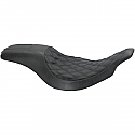 H/D  FLHT, FLTR (97-98) BOSS 2-UP SEAT BLACK