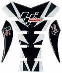 MOTO GP TANK PROTECTOR SPINE STYLE IN  BLACK & CARBON