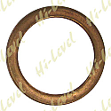 EXHAUST GASKET FLAT COPPER OD 38mm, ID 28.50mm, THICKNESS 4mm