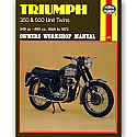 TRIUMPH 350, TRIUMPH 500 UNIT TWINS 1958-1973 WORKSHOP MANUAL