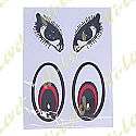 CAT EYES AND DOG EYES STICKERS (1 SET)