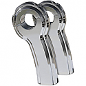 "ROX SPEED FX ANGLE RISER PATRIOT SERIES ALUMINUM 4"" CUSTOM REPLACEMENT CHROME NATURAL"