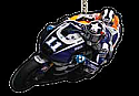 Ben Spies #11 / Yamaha Factory Racing KEY RING
