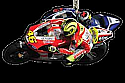 "Valentino Rossi # 46 ""Knee Down� / Ducati Team KEY RING"