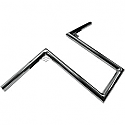 "LA CHOPPERS 1"" NARROW Z-BARS WEB 12"" TALL CHROME UNIVERSAL"