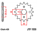 1559-14 FRONT SPROCKET CARBON STEEL