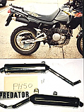 Honda NX650 Dominator 1988-95 Predator SILENCER  ROAD/SPORT WITH REMOVABLE BAFFLE Pair
