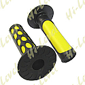 """GRIPS LARGE DIMPLE YELLOW TO FIT 7/8"""" HANDLEBARS"""