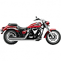 YAMAHA XVS950A MIDNIGHT STAR, YAMAHA XVS950 V-STAR 2009-2016 COBRA SLASH DOWN HOT ROD SPEEDSTER EXHAUST CHROME WITH O2 SENSOR BUNGS