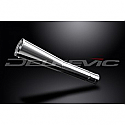 DELKEVIC EXHAUST SILENCER WITH REMOVABLE BAFFLE CLASSIC MEGAPHONE 62mm ENTRY