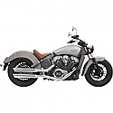 "INDIAN SCOUT 69 ABS, INDIAN SCOUT 60 ABS SIXTY 2015-2017 CHROME 3"" SLIP ON MUFFLER W/CHROME SLASH CUT END CAP"