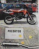 KAWASAKI KLR650 A 1987- 90 PREDATOR SILENCER ROAD LEGAL