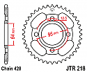 218-44 REAR SPROCKET CARBON STEEL