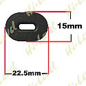 SIDE PANEL RUBBERS SUZUKI STYLE 22.50MM x 15MM OVAL HOLE