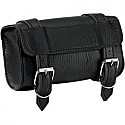 ALL AMERICAN RIDER TOOL BAG WITH 2 STRAPS RIVET BLACK