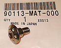GENUINE HONDA PAN SCREW (6X14) 90113-MAT-000 CBR1100XX NSR50R