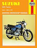SUZUKI T500, SUZUKI GT500A, SUZUKI GT500B 1968-1978 WORKSHOP MANUAL