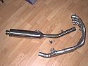 YAMAHA FZR600, GENESIS (3HE MODEL) (89-93) 4-1 SYSTEM ROAD IN BRUSHED STAINLESS