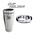 CIRO3D CUP HOLDER WITH PERCH MOUNT - CHROME