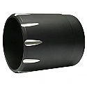 "H/D END CAP BLACK BILLET WITH FLUTES 2"" EXTENDED"