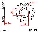 1591-16 FRONT SPROCKET CARBON STEEL