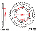 797-57 REAR SPROCKET CARBON STEEL