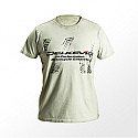 DELKEVIC Green Dirty Wash T-shirt