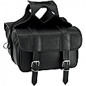 ALL AMERICAN RIDER SADDLEBAG FLAP OVER LARGE PLAIN BLACK