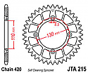 215-56 REAR SPROCKET CARBON STEEL