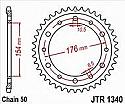 1340-44 REAR SPROCKET CARBON STEEL