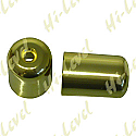 SUZUKI GS500E, SUZUKI GSX750F, SUZUKI RF900R, SUZUKI GSXR1100 BAR END COVER GOLD
