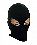 BALACLAVA THERMAL COTTON BLACK DOUBLE EYE-HOLE