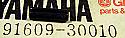 NEW OEM YAMAHA RD400 TIMBERWOLF TRI MOTO SPRING PIN 91609-30010-00