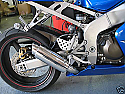 Kawasaki ZX6R, ZX636 03-05 Predator GP Silencer in BRUSHED Stainless