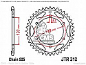 312-40 REAR SPROCKET CARBON STEEL