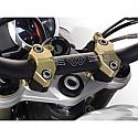 TRIUMPH STREET TRIPLE 675R, STREET TRIPLE 675R ABS, SPEED TRIPLE 1050S ABS, SPEED TRIPLE 1050R ABS 2013-2017 GILLES TOOLING RISER HANDLEBAR 2D.GT BLACK/GOLD