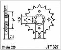 327-14 FRONT SPROCKET CARBON STEEL