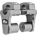 ROX SPEED FX 50.8 MM PIVOTING HANDLEBAR RISER FOR 28.6 MM BAR CLAMPS - ALUMINUM GRAY
