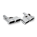 S65 AMG Style 5 x 3 Inch Twin (Pair)