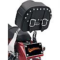 SADDLEMEN SISSY BAR BAG EXPRESS DESPERADO LARGE TEXTILE BLACK CHROME