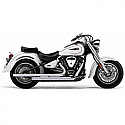 YAMAHA XV1700 ROAD WARRIOR, XV1700AS ROAD STAR S, XV1700AT ROAD STAR SILVERADO 2008-2014 EXHAUST SYSTEM DRAGSTER 2 INTO 2 STRAIGHT-CUT W/BUNGS CHROME