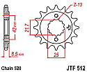 512-15 FRONT SPROCKET CARBON STEEL