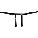 "EMGO HANDLEBAR 1"" T-BAR BLACK WITH 6"" END RISE DIMPLED"
